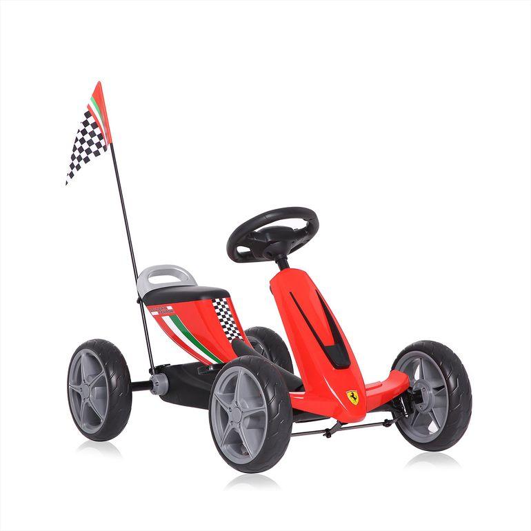 Offiziell lizenziertes Ferrari Go Kart für Kinder in Rot – Bild 2