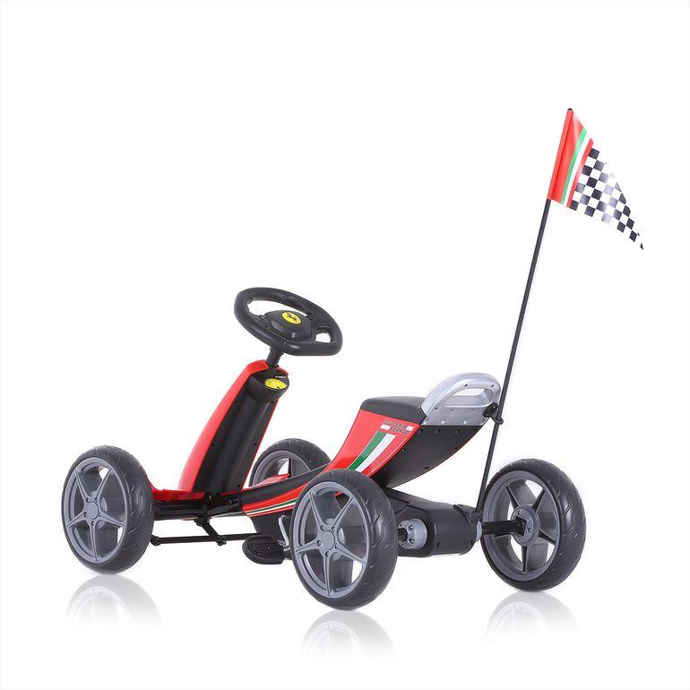 Officially licensed Ferrari Go Kart for Children in Red – Bild 5