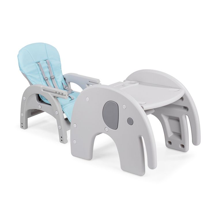 Baby Vivo 2-in-1 Child's Highchair / Combo Plastic High Chair with Table - Elephant – Bild 11