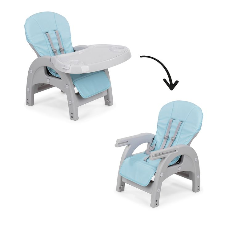 Baby Vivo 2-in-1 Child's Highchair / Combo Plastic High Chair with Table - Elephant – Bild 10