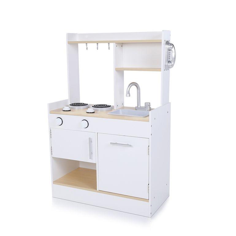 Baby Vivo Kinderküche Spielküche aus Holz mit kratzfester Oberfläche - Billy in Weiß – Bild 1