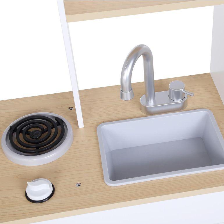 Baby Vivo Kinderküche Spielküche aus Holz mit kratzfester Oberfläche - Billy in Weiß – Bild 8
