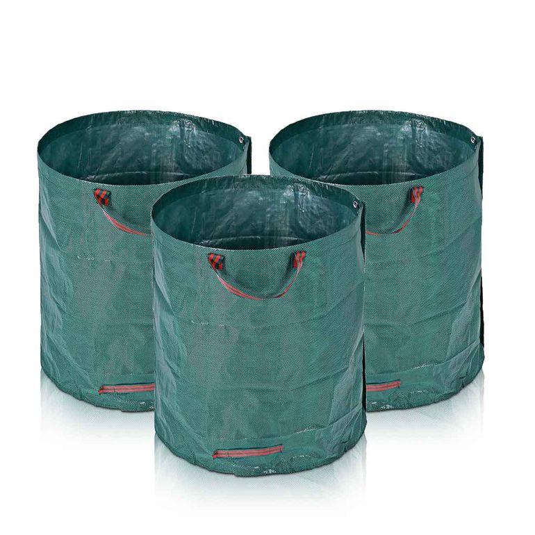 MAXCRAFT 3x Laubsack / Gartensack Set aus robustem Polyethylen - 280 Liter – Bild 4