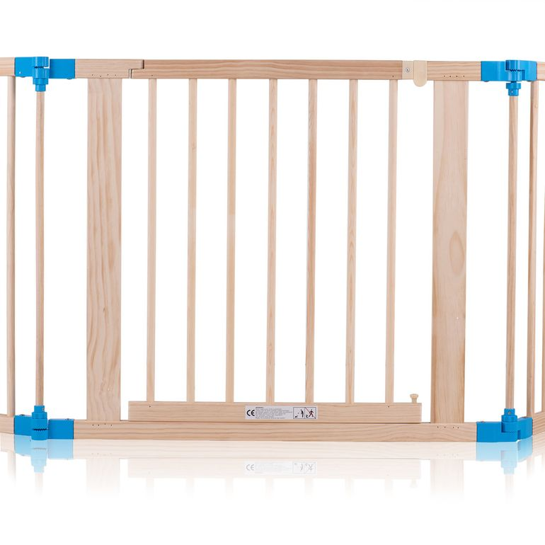 Baby Vivo Baby Child Playpen made of Wood 8 Elements with blue Connections - Foldable PREMIUM – Bild 6