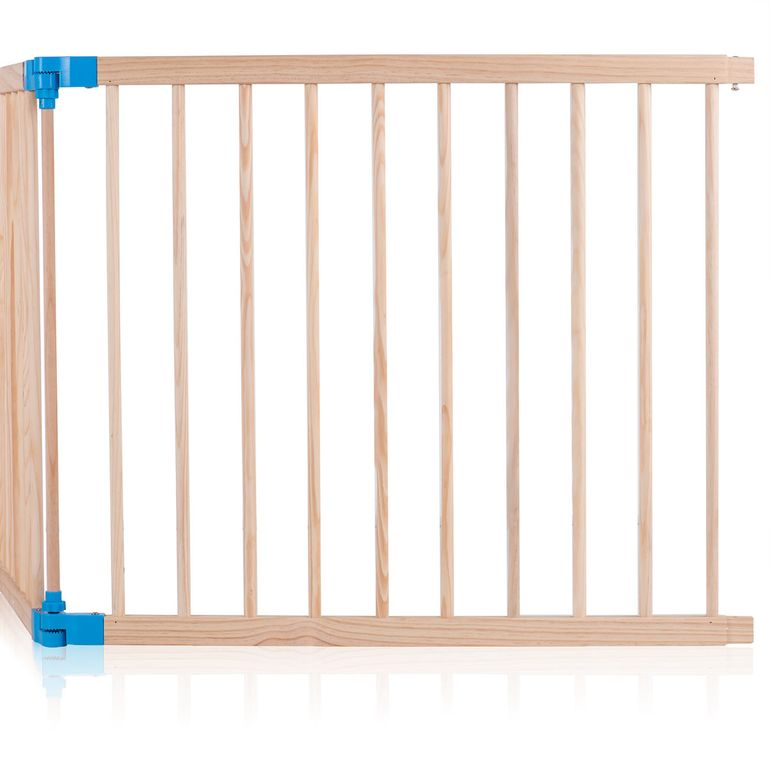 Baby Vivo Baby Child Playpen made of Wood 8 Elements with blue Connections - Foldable PREMIUM – Bild 7