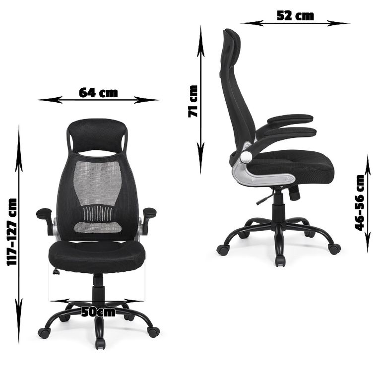 MY SIT Ergonomic Office Chair Barcelona with Lumbar Support in Black – Bild 3