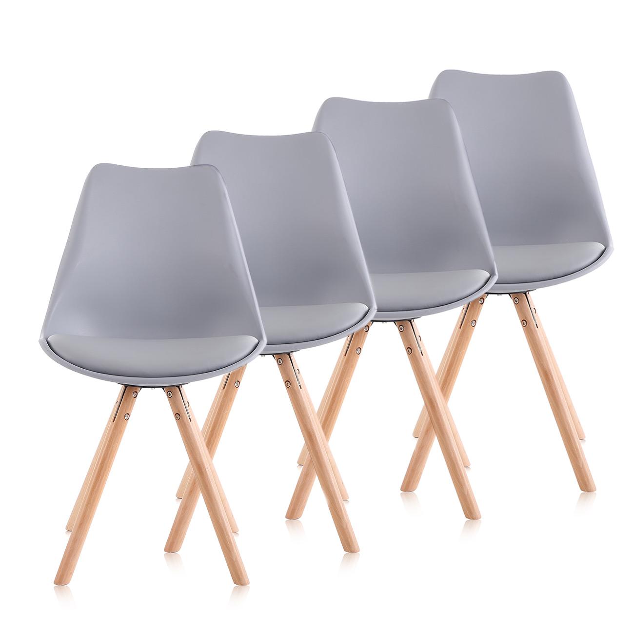 Dettagli su Sedia Design Sedia d'ufficio Mobili Retro da Pranzo Salotto  Mobili Gambe Makika