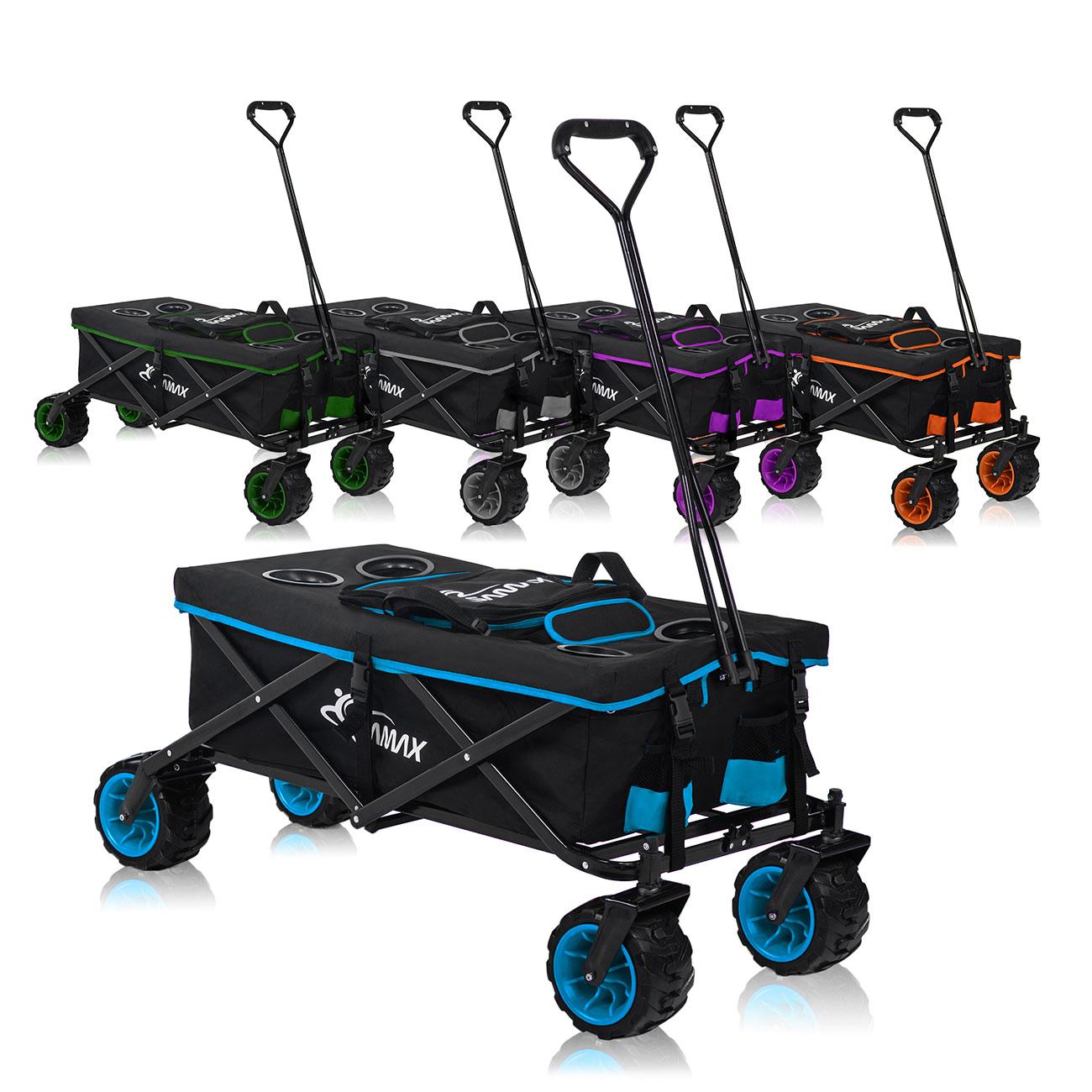 violett klappbar Transportwagen Muli Traglast 100 kg