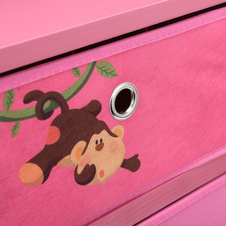 Makika Faltbare Kommode für Kinder mit 3 Schubladen in Rosa B-Ware – Bild 10