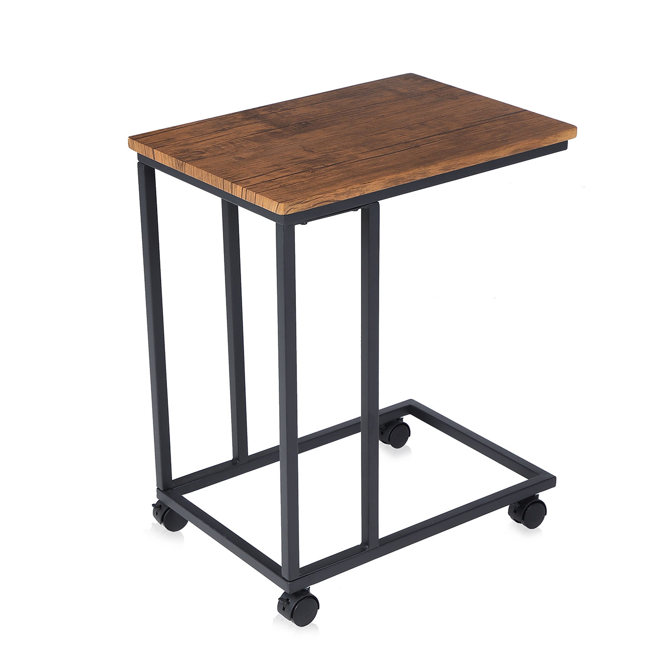 Makika Vintage Design Side Table / Coffee Table with 2 different wheels  (with and without brakes) | MA Trading