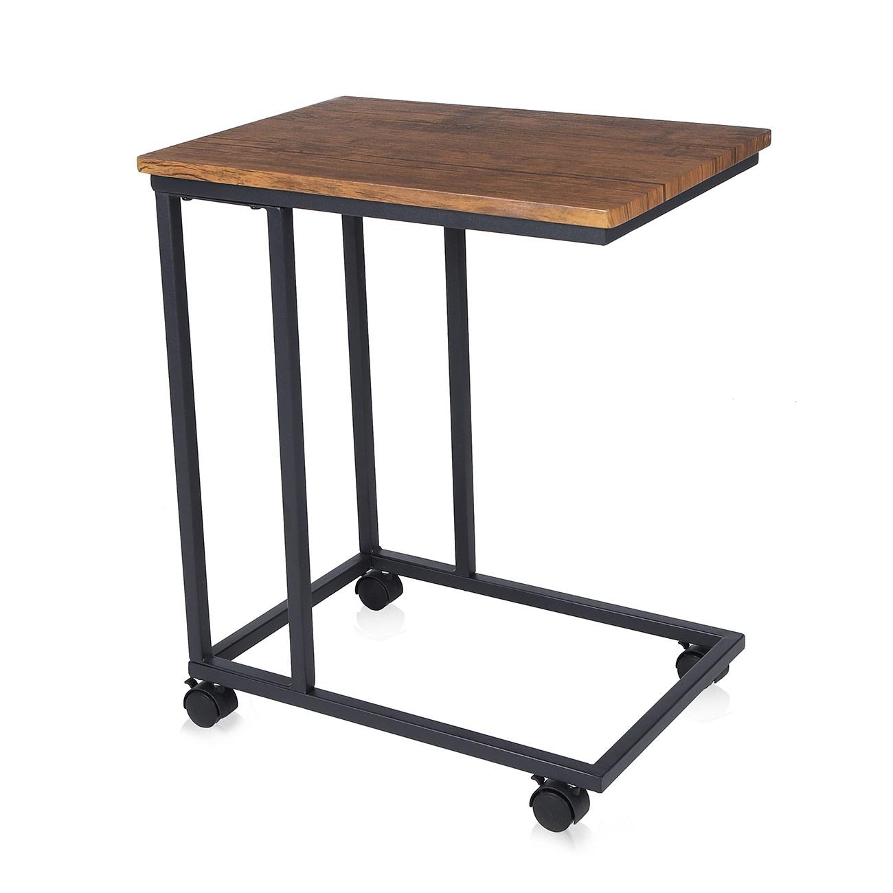 Tavolino Da Caff.Makika Design Vintage Tavolino Da Caffe Tavolino Mobile Comodino Con 2 Diverse Ruote Con E Senza Freno