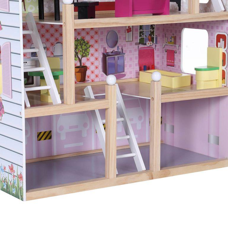 Baby Vivo Puppenhaus Lavinia aus Holz mit Zubehör B-Ware – Bild 10