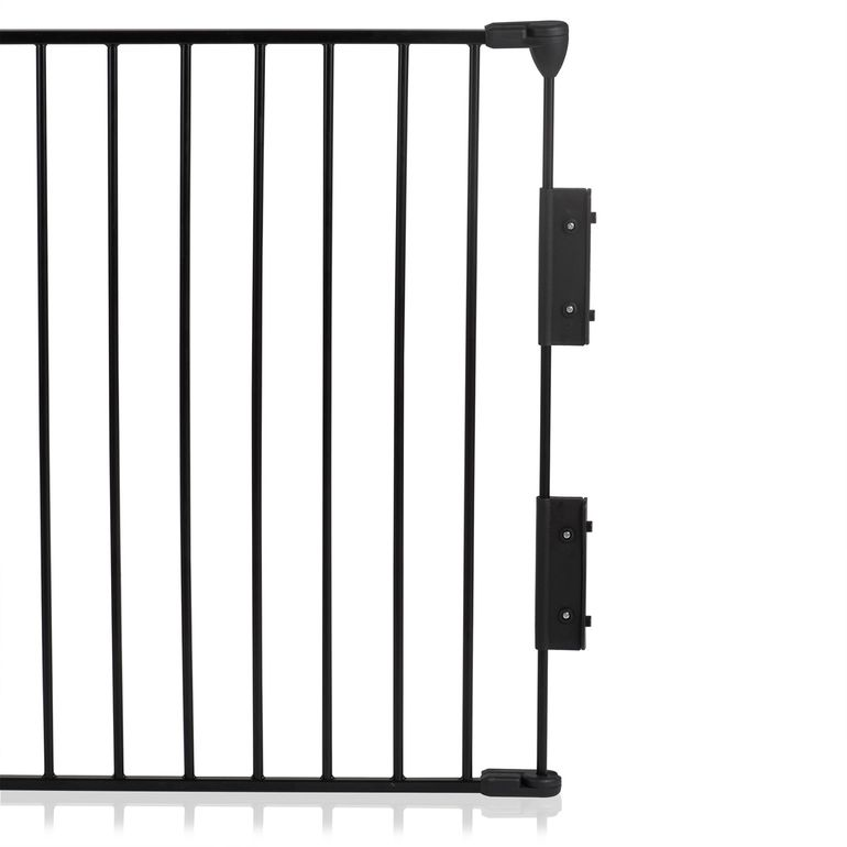 Baby Vivo Fire guard / Heater guard Metal Barrier Room Divider 4+1 with Door in Black (4 panels and one door) - STANDARD – Bild 8