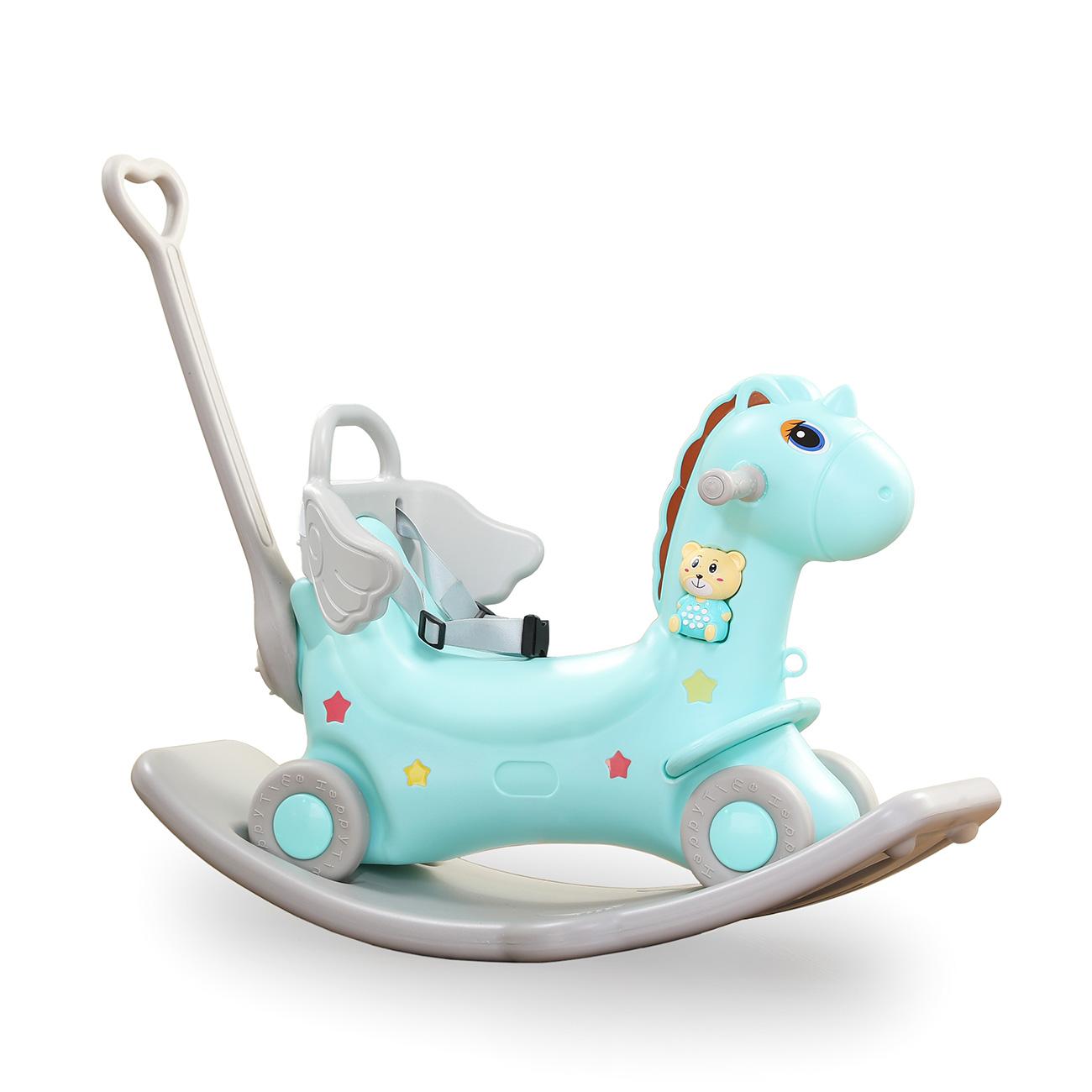 Cavallo A Dondolo Con Ruote.Baby Vivo Cavallo A Dondolo Unicorno A Dondolo Con Ruote
