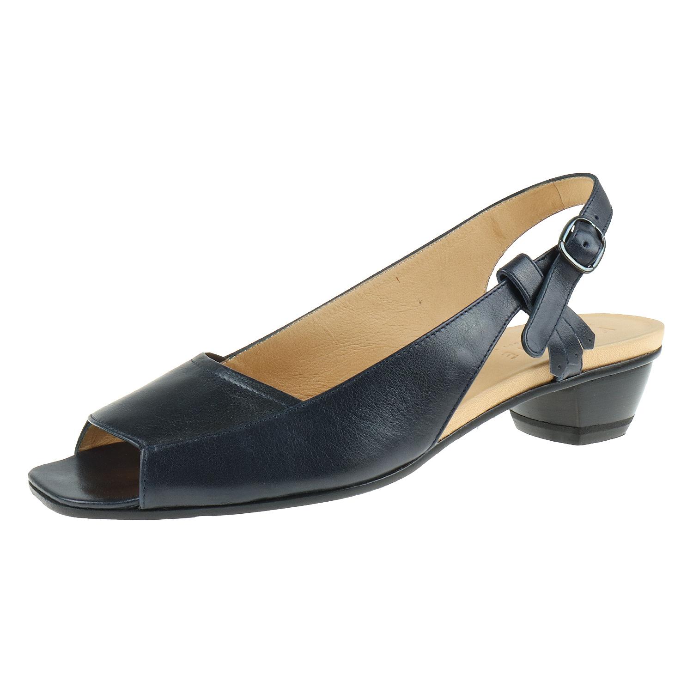 Details zu Vabene Damenschuhe Sandalette Marica Glattleder Schnalle, Druckknopf P383 A O