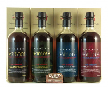 Karuizawa Cask Strength 4er Serie Single Malt Whisky Japan 4x0,7l, alc. 61,7 Vol.-%