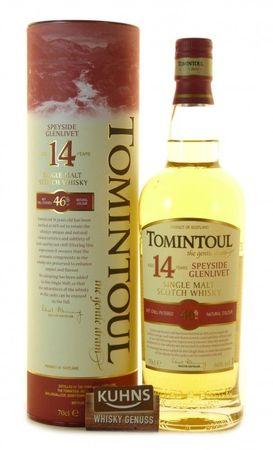 Tomintoul 14 Jahre Speyside Single Malt Scotch Whisky 0,7l, alc. 46 Vol.-%