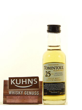 Tomintoul 25 Jahre Miniatur Speyside Single Malt Scotch Whisky 0,05l, alc. 40 Vol.-%