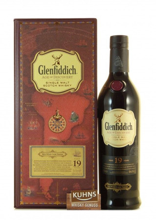 Glenfiddich 19 Jahre Age of Discovery Red Wine Single Malt Scotch Whisky  0,7l alc. 40 Vol.-%
