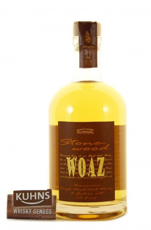 Schraml Stonewood WOAZ 5 Jahre Single Wheat Whisky 0,7l, 43 Vol.-%, Deutscher Whisky