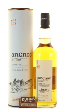 AnCnoc 12 Jahre Speyside Single Malt Scotch Whisky 0,7l, alc. 40 Vol.-%