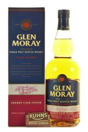Glen Moray Sherry Cask Finish Speyside Single Malt Scotch Whisky 0,7l, alc. 40 Vol.-%
