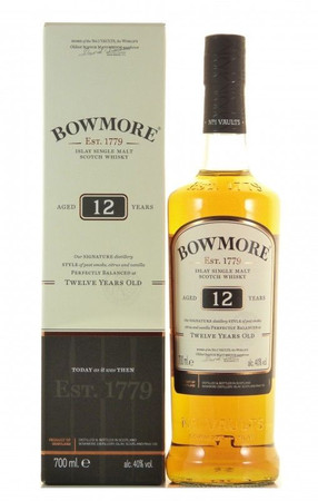 Bowmore 12 Jahre Islay Single Malt Scotch Whisky 0,7l, alc. 40 Vol.-%