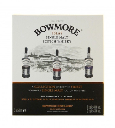 Bowmore Collection 3 Miniaturen Islay Single Malt Scotch Whisky 0,15l