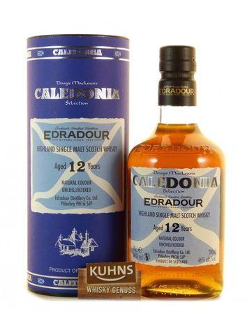 Edradour 12 Jahre Caledonia Highland Single Malt Scotch Whisky 0,7l, alc. 46 Vol.-%