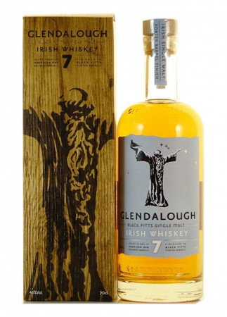 Glendalough 7 Jahre Black Pitts Irish Single Malt Whiskey 0,7l, alc. 46 Vol.-%