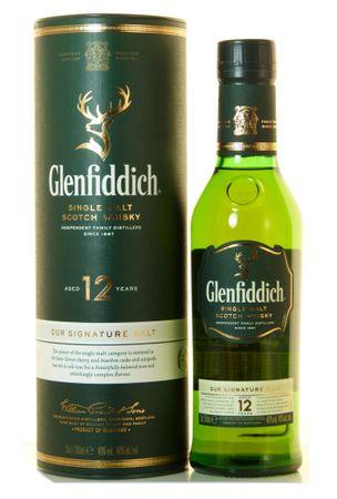 Glenfiddich 12 Jahre Speyside Single Malt Scotch Whisky 0,35l, alc. 40 Vol.-%