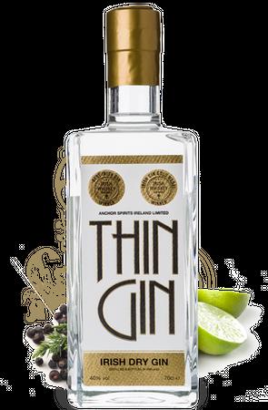 Thin Gin Irish Dry Gin 0,7l, alc. 40 Vol.-%, Dry Gin Irland