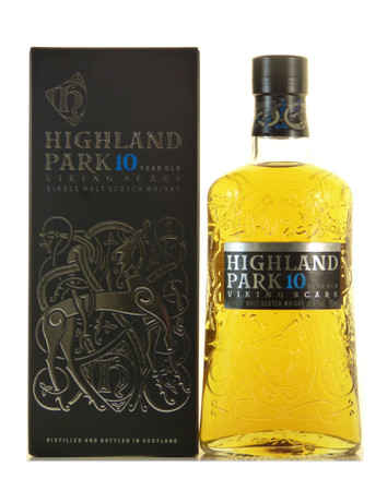 Highland Park 10 Jahre Viking Scars Orkney Single Malt Scotch Whisky 0,7l, alc. 40 Vol.-%