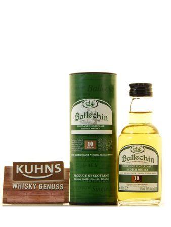 Ballechin 10 Jahre Miniatur 0,05l, alc. 46 Vol.-%, Highland Single Malt Scotch Whisky