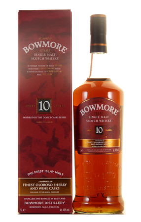 Bowmore 10 Jahre Inspired by the Devil's Cask Series Islay Single Malt Scotch Whisky 1,0l