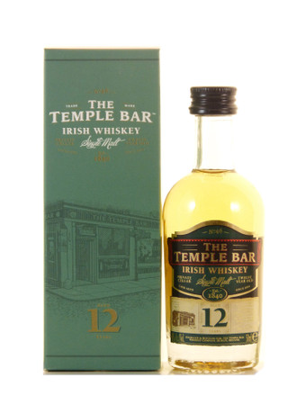 The Temple Bar Miniatur 12 Jahre Irish Single Malt Whisky 0,05l, alc.40 Vol.-%