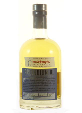 Mackmyra Preludium 01 0,5l, alc. 55,6 Vol.-%, Schweden Single Malt Whisky