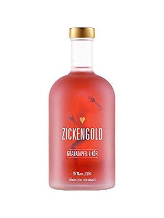 Zickengold 0,5l, alc. 15 Vol.-%, Granatapfel-Likör