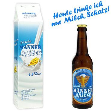 Männermilch 0,33l, alc. 4,8 Vol.-%, Geschenkartikel Pilsbier