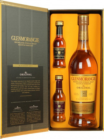 Glenmorangie 10 Jahre -The Pioneer Set- Highland Single Malt Scotch Whisky, 0,8l, alc. 40/43/46 Vol.-%