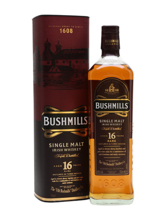 Bushmills 16 Jahre Single Malt Irish Whiskey 0,7l, alc. 40 Vol.-%