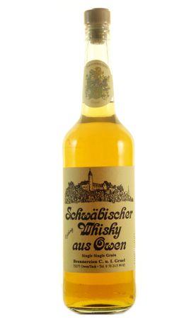 Schwäbischer Whisky aus Owen Single Grain 6 Jahre 0,7l, alc. 43 Vol.-%, Deutscher Whisky