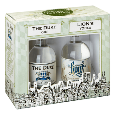 The Duke Munich Dry Gin & Lion's Vodka Geschenkset 2x0,1l, alc. 42 Vol,-% / 45 Vol.-%,
