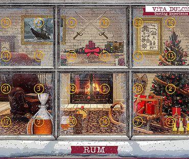 Rum-Adventskalender Edition Klassik 24x0,02l, Rum aus 24 Ländern