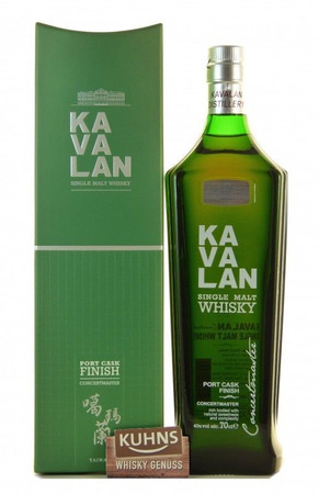 Kavalan Single Malt Concertmaster Port Cask Finish 0,7l, 40 Vol.-%, Taiwan Single Malt