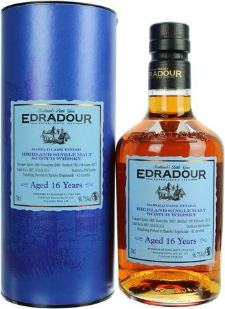 Edradour 16 Jahre Barolo Cask Finish 2000 Single Malt Whisky 0,7l, alc. 56,7 Vol.-%