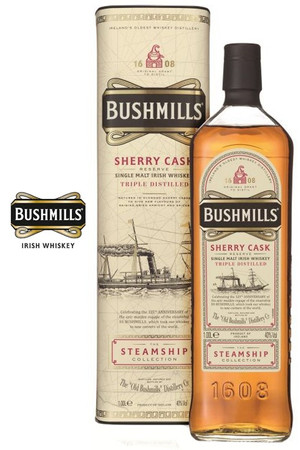 Bushmills Sherry Cask Steamship Collection Single Malt Irish Whiskey 1,0l, alc. 40 Vol.-%