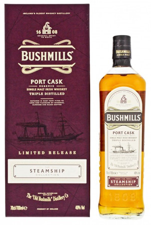 Bushmills Port Cask Steamship Collection Single Malt Irish Whiskey 0,7l, alc. 40 Vol.-%