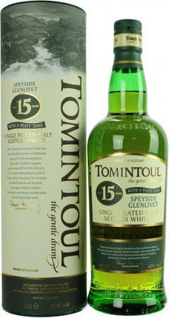 Tomintoul 15 Jahre Peaty Tang Speyside Single Malt Scotch Whisky 0,7l, alc. 40 Vol.-%