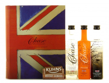 Williams Chase Brand Book Trio Geschenk-Set 3 x 0,05l Gin und Vodka